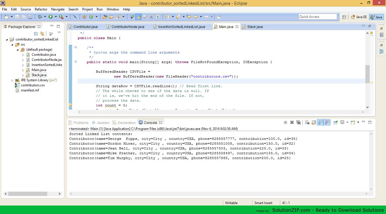 Contributor sortedLinkedList 1