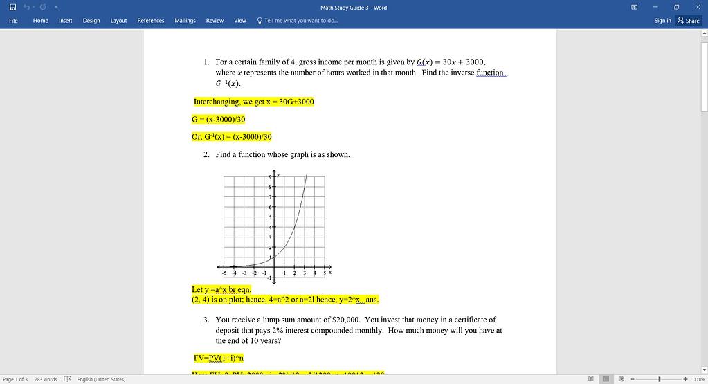 Math Study Guide 3 2