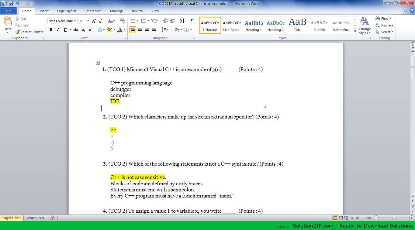 15 MCQ (TCO 1) Microsoft Visual C++ is an example of 1