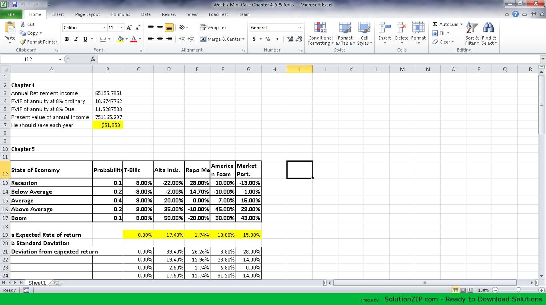 Week 7 Mini Case Chapter 4, 5 & 6 1