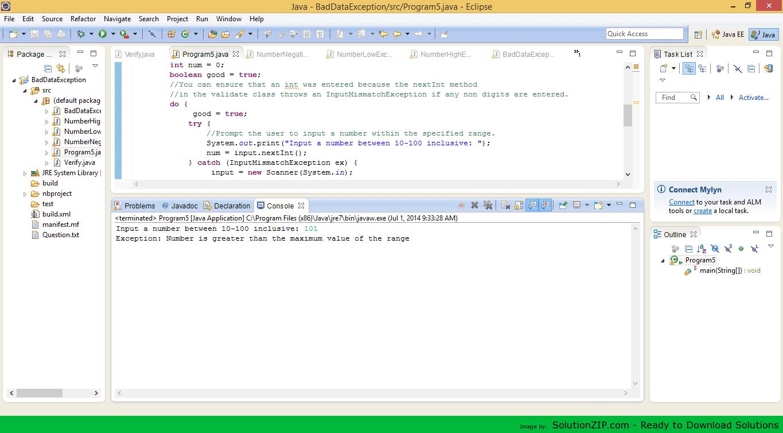 BadDataException 1
