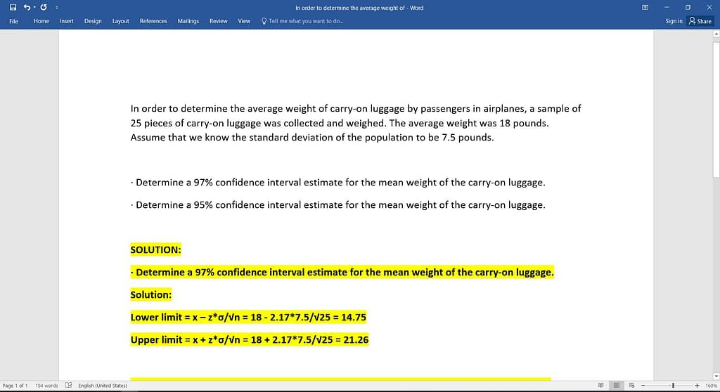 In order to determine the average weight of 4