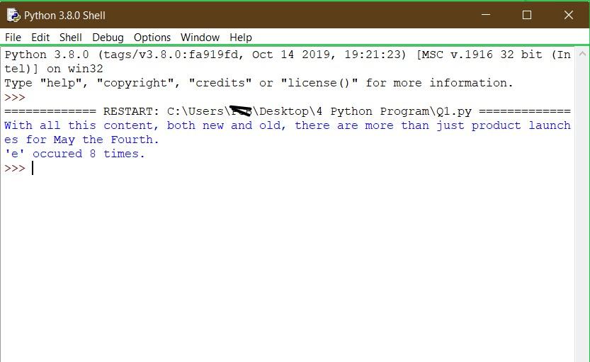 4 Python Program 1