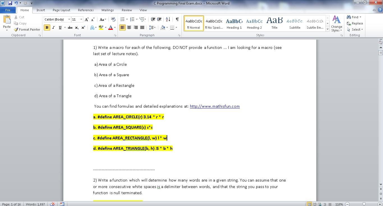 C-Programming-Final-Exam