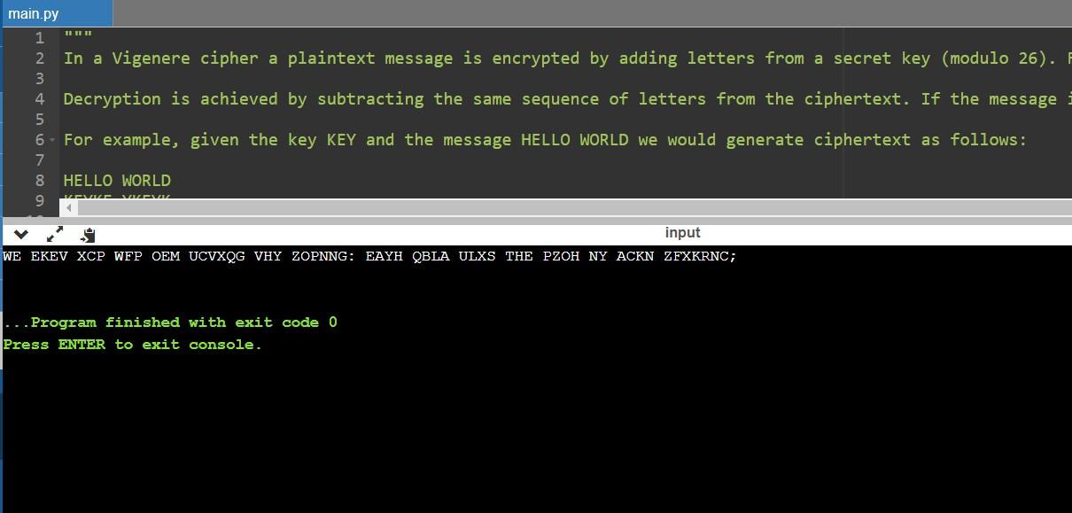 Vigenere Cipher 2
