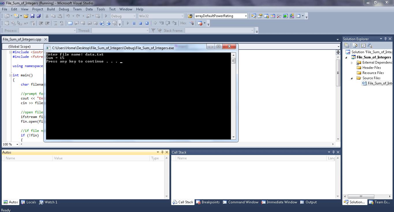 File Sum of Integers-1