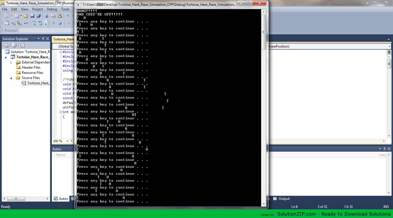 Tortoise_Hare_Race_Simulation_CPP 1