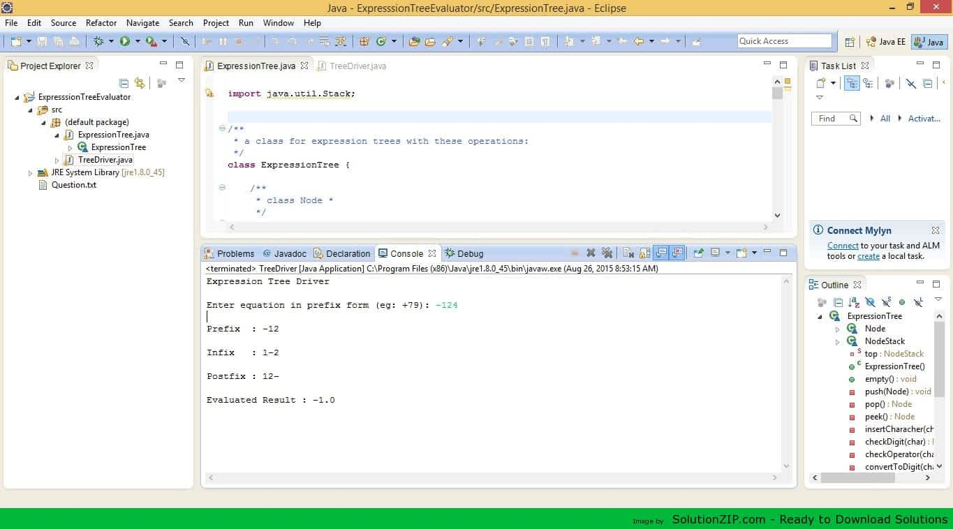 Programming Project: Expression Trees 1