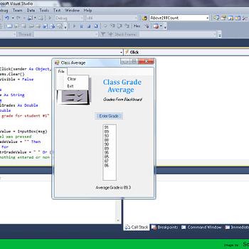 Class Grade Calculator Application