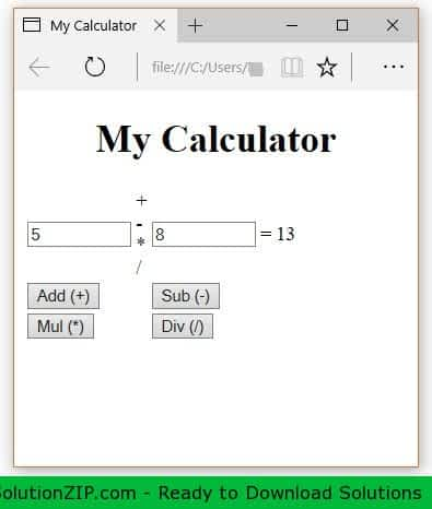 Calculator JavaScript 1