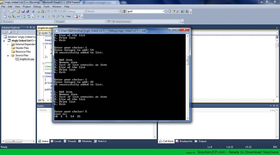 Singly Linked List 1