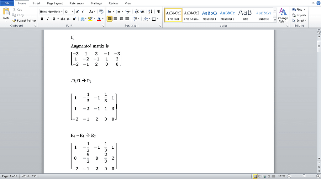 MATH1144-Matrix