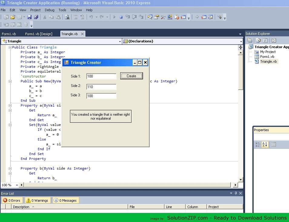 Triangle Creator Application 1